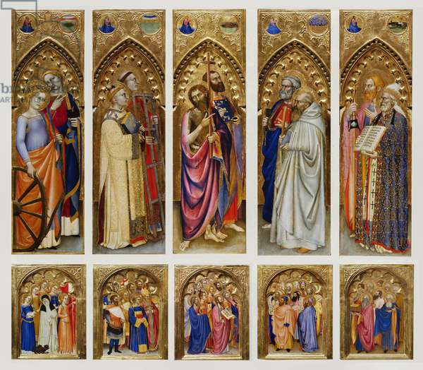 Altarpiece of All Saints, 1360 (oil and gold on board)