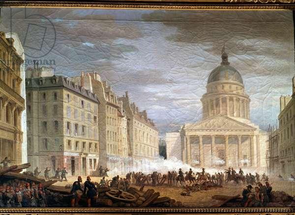 Storming of the Pantheon (Prise du Panthéon), by Nicolas Edward Gabe, 19th Century