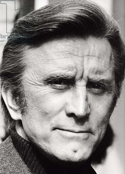 Portrait of Kirk Douglas, in Italy for the shooting of a film