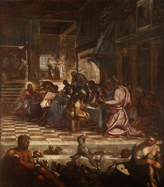 The Last Supper (L'ultima cena), by Jacopo Robusti known as Tintoretto, 1578-1581, 16th Century, oil on canvas, 538 x 487 cm.