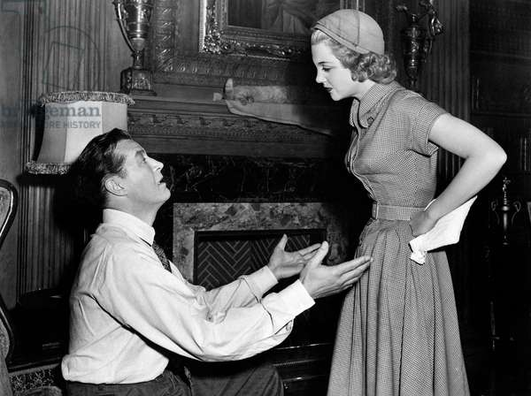 Jan Sterling furious with Ray Milland