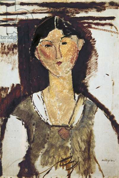 Beatrice Hastings, by Amedeo Modigliani, 1915 (oil on cardboard)