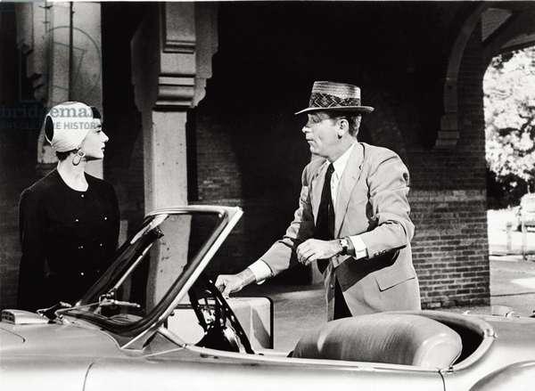 Audrey Hepburn and William Holden in 'Sabrina', 1954 (b/w photo)