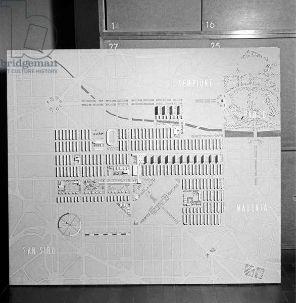 A scale model by Piero Bottoni,  Milan, Italy