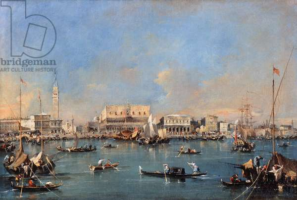Venice from the sea, by Francesco Guardi, 17th - 18th century, oil on canvas.
