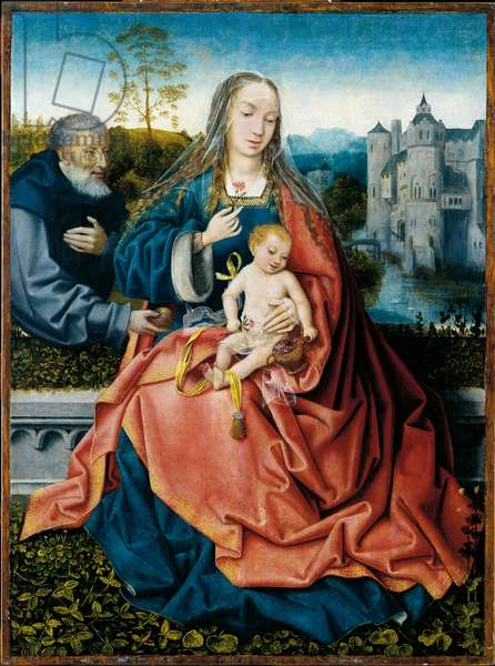 Holy Family (Sacra Famiglia), by Master of Frankfurt, 1508, 16th Century, oil on board, 76 x 57 cm