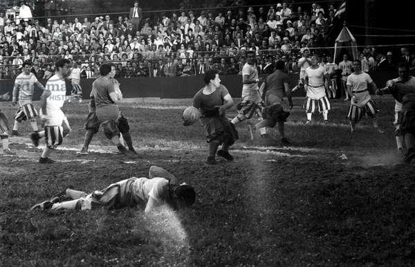 A Calcio Fiorentino match, Florence, Italy, 1960