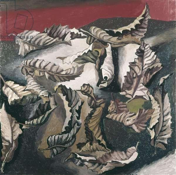 Winter Leaves (Foglie di inverno), by Renato Guttuso, 1968, 20th Century, oil on canvas