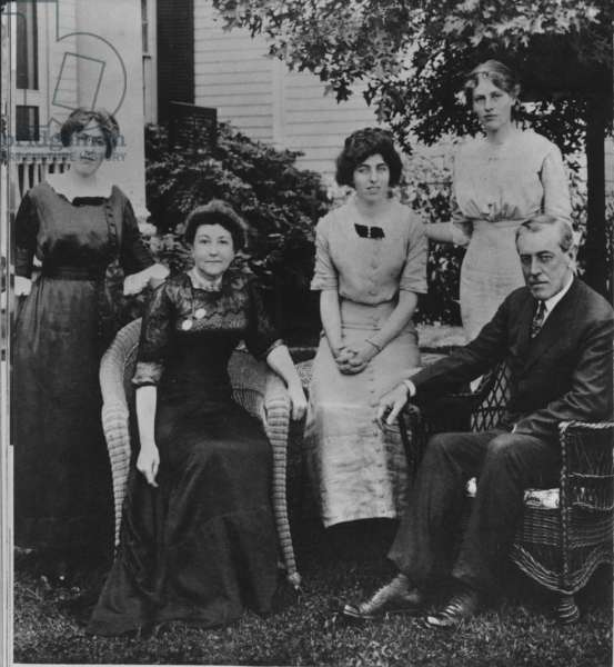 Thomas Woodrow Wilson with his family