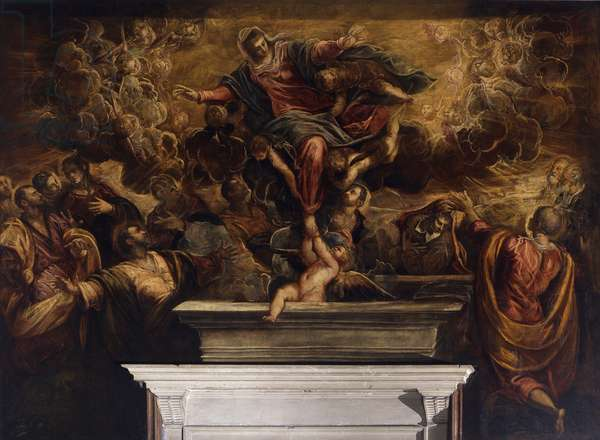 Assumption of the Virgin (Assunzione della Vergine), by Jacopo Robusti known as Tintoretto, 1583, 16th Century, oil on canvas.