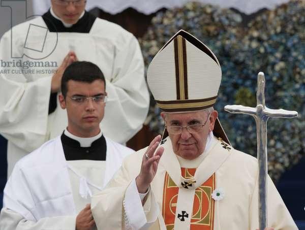 Pope Francis, Fogliano-Redipuglia, Italy