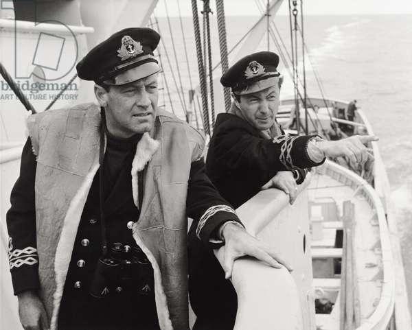 William Holden and Trevor Howard, 1958 (b/w photo)