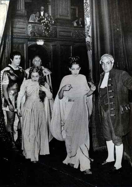 Maria Callas as Norma, Italy, 1958 (b/w photo)