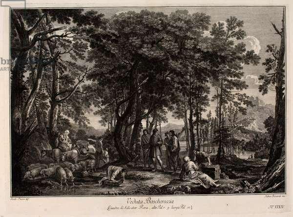 Wood Landscape, 17th century (engraving)