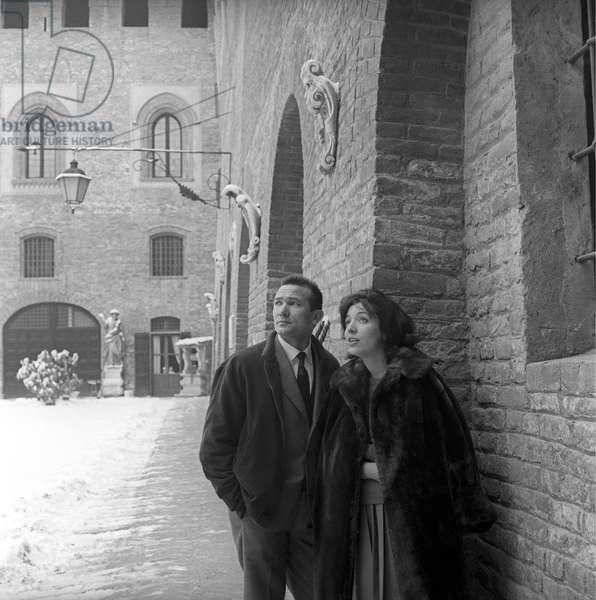 Carlo Cabrini and Anna Canzi looking far, Sant'Angelo Lodigiano, Italy