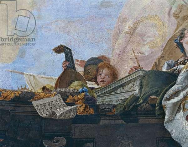 Ride of the Sun Chariot driven by Apollo (Corsa del carro del Sole guidato da Apollo), by Giambattista Tiepolo, 1740, 18th Century, fresco.