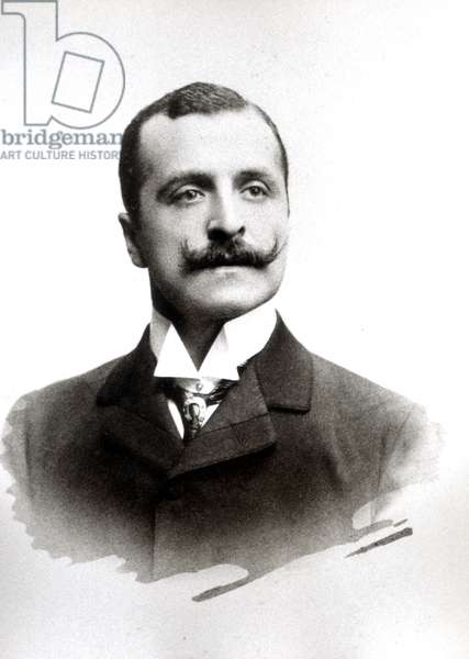 Adamo Levi, father of Rita Levi Montalcini, Italy, 1900 (b/w photo)