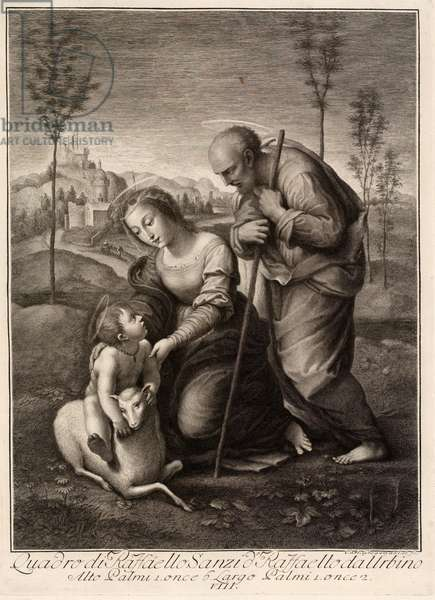 Holy Family with the Lamb, 1507 (engraving)