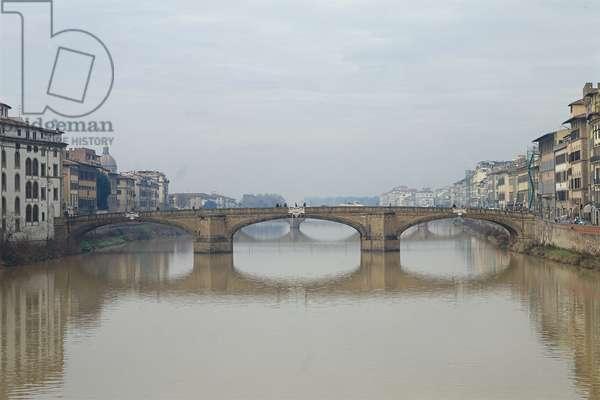 Santa Trinita Bridge spanning the Arno (L'Arno col ponte a Santa Trinita)