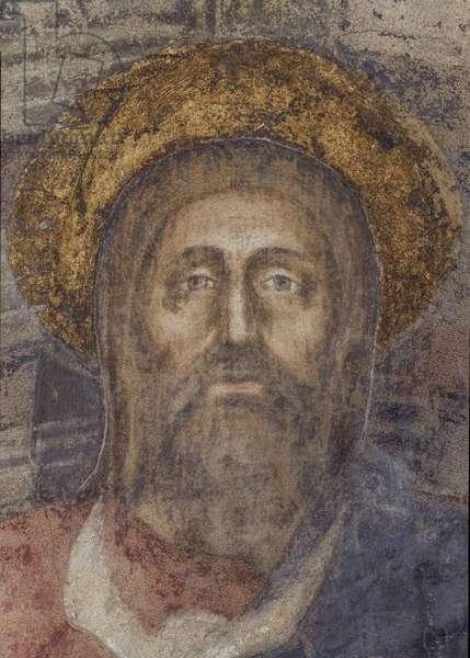 Holy Trinity - After Restoration (Trinità - dopo il restauro), by Tommaso di ser Giovanni di Mone Cassai knows as Masaccio, 1425, 15th Century, fresco, 667 x 317 cm
