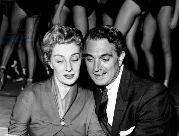 Robert Alda with Andreina Pagnani (b/w photo)