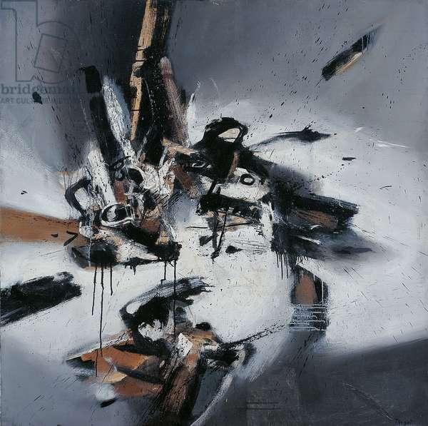 Moment (Momento), by Fabrizio Plessi, 1961, 20th Century, oil on canvas, 145,5 x 145,2 cm