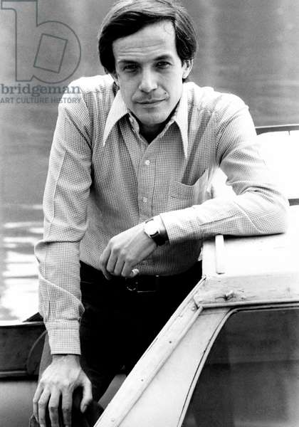 Roberto Bisacco outside a river boat on the Po river