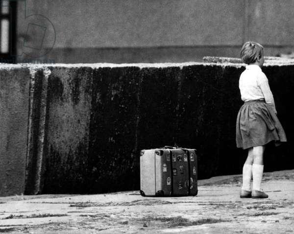 A little girl in East Berlin