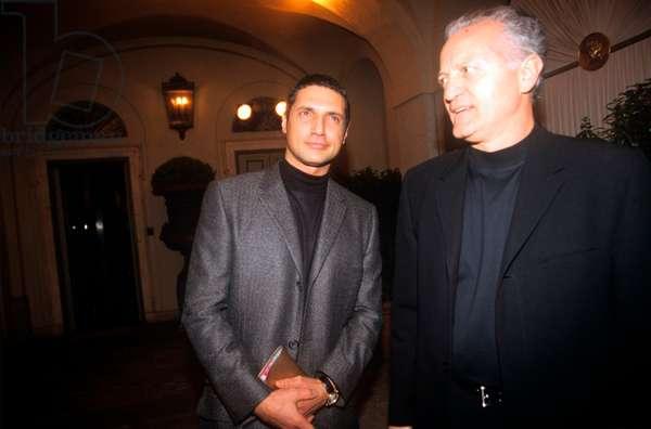 Antonio D'Amico and Santo Versace at the Maison Versace, Milan, Italy