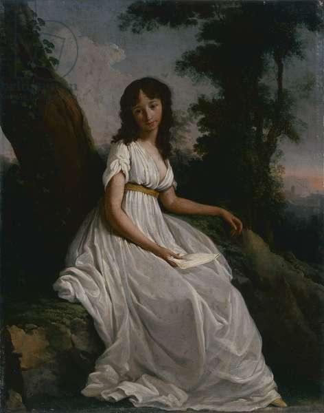 Portrait of a young girl (Ritratto di giovinetta), by Teodoro Matteini, 1797, 18th Century, oil on canvas