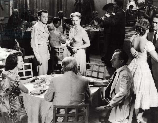 Frank Sinatra with Marta Hyer, 1959 (b/w photo)