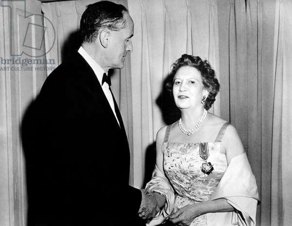 Elizabeth Arden with Manlio Brosio, New York City, United States