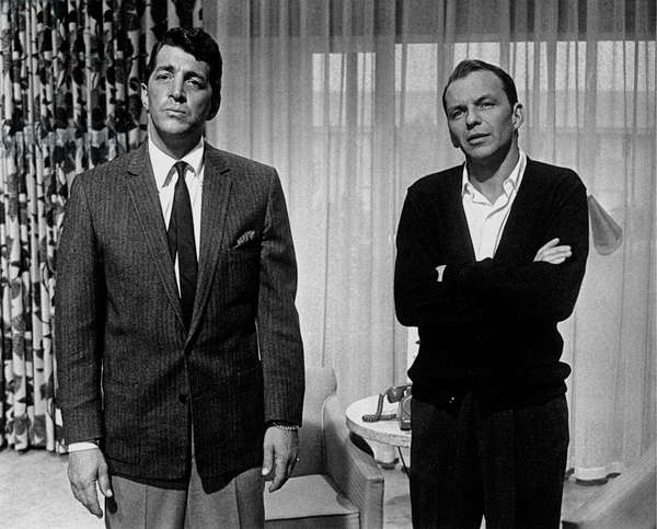 Knee figure of Dean Martin and Frank Sinatra in the dining room, United States