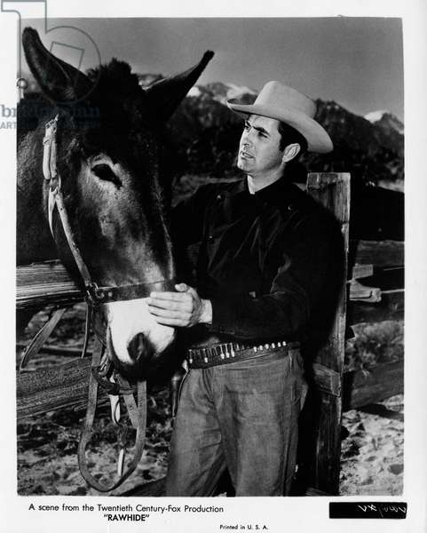 Tyrone Power in 'Rawhide', United States, 1951