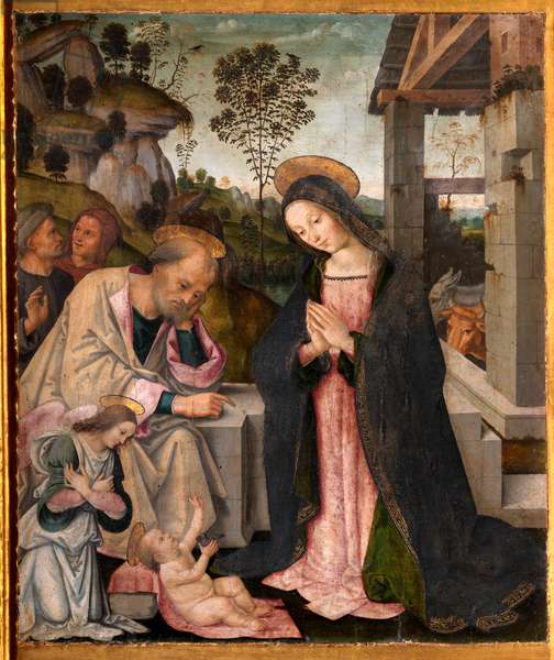 Virgin Mary in adoration of her Son, 15th century