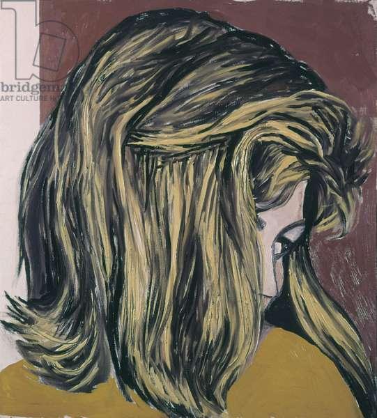 Head of Blonde Woman (Testa di donna bionda), by Renato Guttuso, 1968, 20th Century, oil on canvas