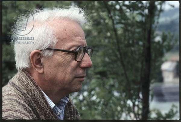 Portrait of Enzo Biagi, Lizzano in Belvedere, Italy