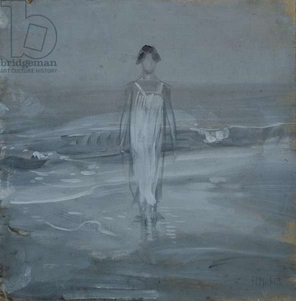 Woman at the water's edge, 1910 (tempera on canvas)