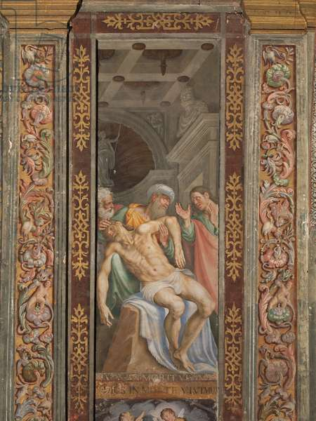 Deposition - Dead Christ, 16th century (fresco)