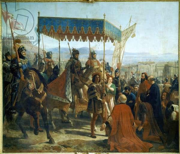 Charles VIII Enters Naples (Entrée de Charles VIII à Naples), by Eloi Firmin Féron, 19th Century