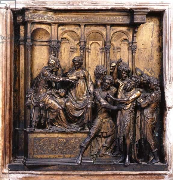 The capture of Saint John the Baptist, 1417 (relief)