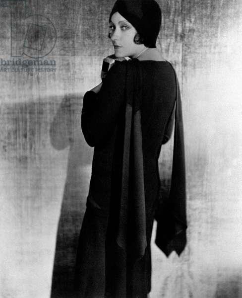 Gloria Swanson poses, United States