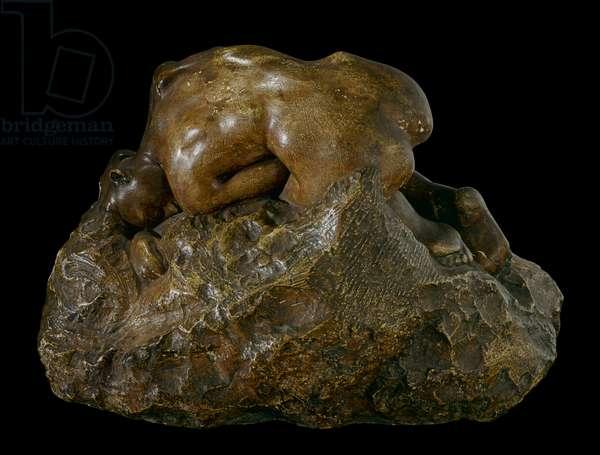 Danae (Danae), by Francois-Auguste-René Rodin, 1901, 20th century, coated plasterwork