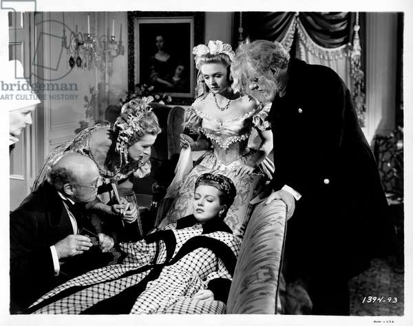 Lana Turner, Reginald Owen, Donna Reed and Edmund Gwenn in 'Green dolphin street', 1947 (b/w photo)