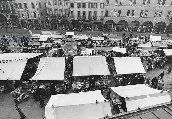Piazza delle Erbe street market in Padua, Padua, 1973 (photo)