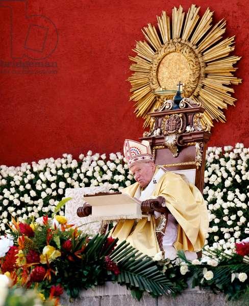 Pastoral Visit of Pope John Paul II to Guatemala, Guatemala City, Guatemala