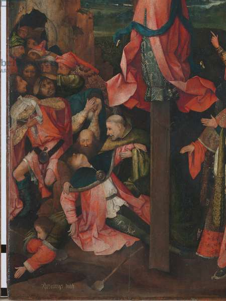 Triptych of the Crucified Martyr (Triptych of St Julia), by Joren Anthoniszoon Van Aeken known as Bosch Hieronymus, 1500 - 1504, 16th Century (oil on panel), cm 104 x 63