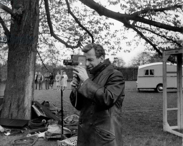 Maximilian Schell on the set of 'The Condemned of Altona', 1962 (b/w photo)