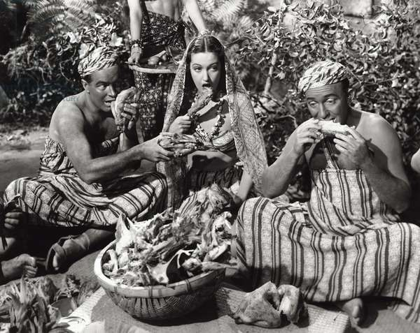 Dorothy Lamour, Bing Crosby and Bob Hope in 'The Road to Singapore', 1940 (b/w photo)