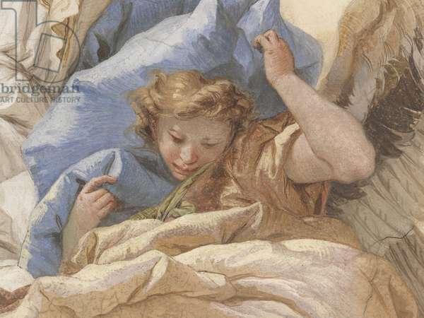 Assunta with a Glory of Angels, by Giambattista Tiepolo, 1759, 18th Century, fresco